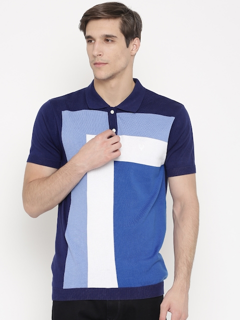 Allen Solly Men Navy Blue Polo T-shirt