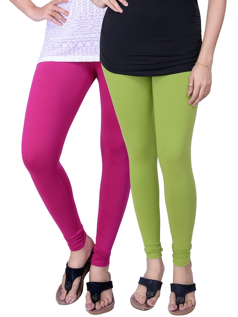 Lux Lyra Pack of 2 Churidar Leggings  available at myntra for Rs.577