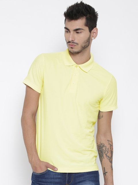 Aventura Outfitters Men Yellow Polo T-shirt  available at myntra for Rs.179
