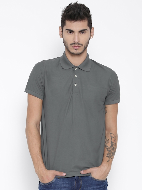 Aventura Outfitters Men Grey Polo T-shirt  available at myntra for Rs.179