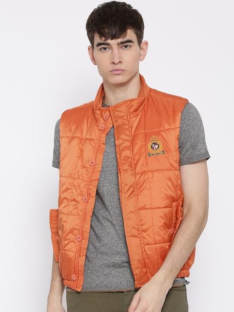 U.S. Polo Assn. Orange Sleeveless Quilted Jacket