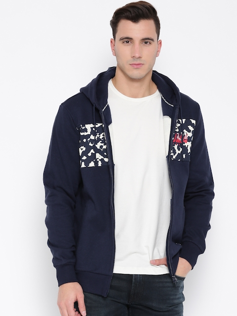Puma Men Navy Full Zip Hooded Sweatshirt