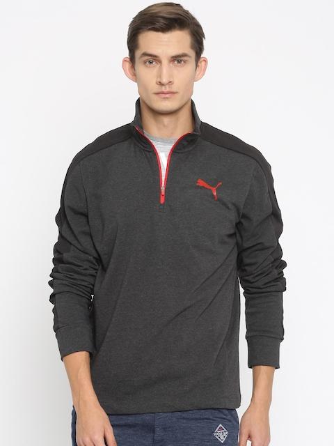 PUMA Charcoal Grey StretchLite Slim Fit Sweatshirt
