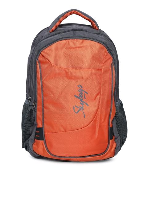 Skybags Unisex Orange Dunk 01 Laptop Backpack