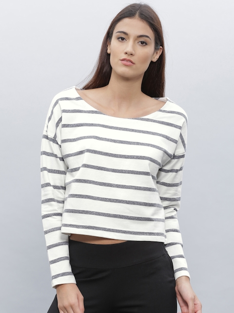 ETHER White Striped Sweatshirt