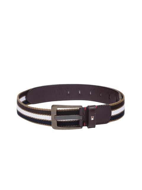 Tommy Hilfiger Men Black & White Belt