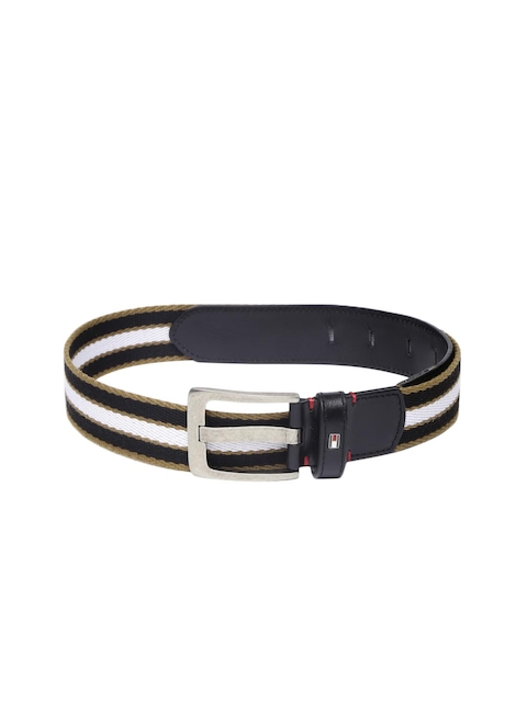 Tommy Hilfiger Men Black & White Belt