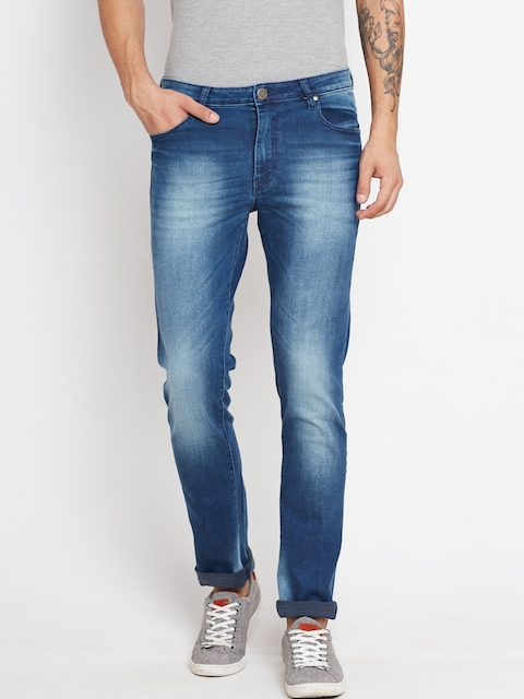 American Swan Men Blue Slim Fit Stretchable Jeans
