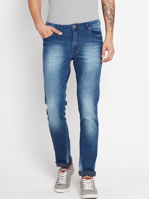 American Swan Men Blue Slim Fit Mid-Rise Clean Look Jeans