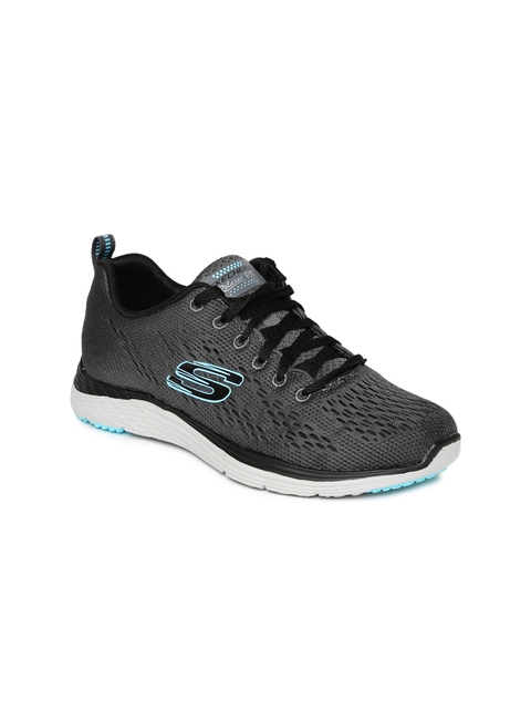 Skechers Women Charcoal Grey Valeris Sneakers