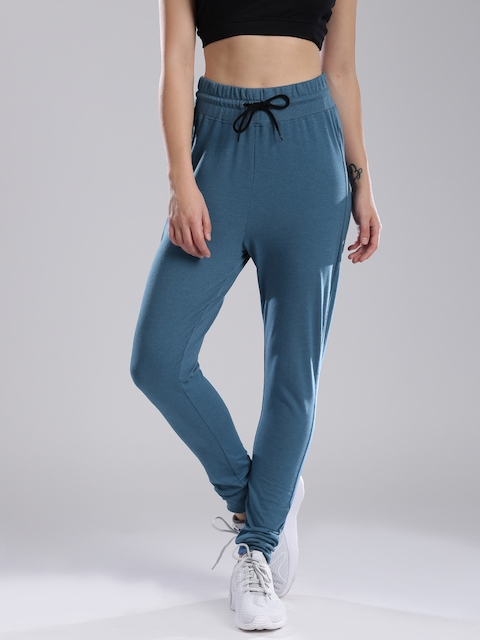 HRX by Hrithik Roshan Women Teal Blue Solid Regular Fit Joggers