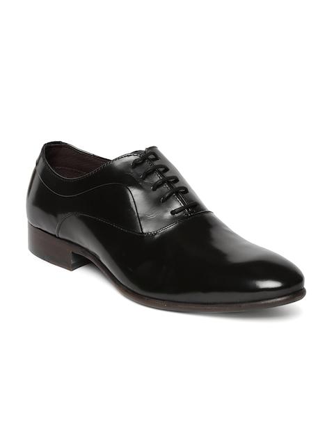 Alberto Torresi Men Black Leather Oxford Shoes