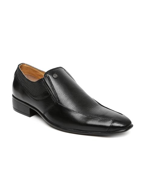 Alberto Torresi Men Black Leather Semiformal Slip-On Shoes