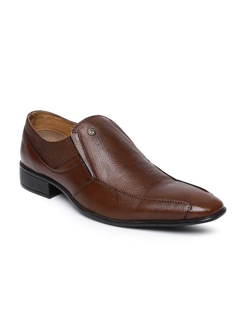 Alberto Torresi Men Tan Formal Leather Slip-On Shoes