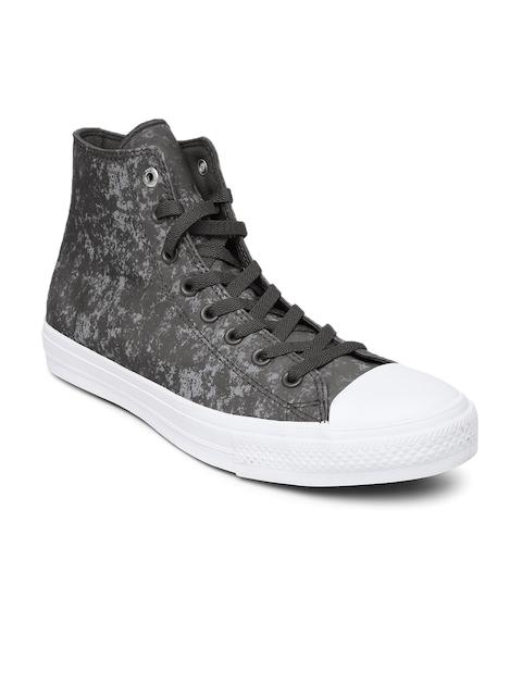 Converse Men Grey Printed High-Top Sneakers