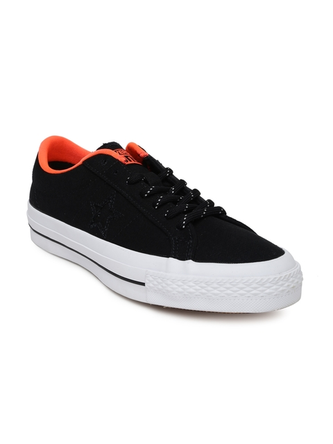 Converse Men Black Solid Regular Sneakers