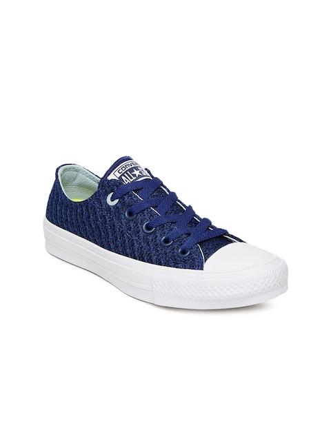 Converse Women Blue Woven Regular Sneakers