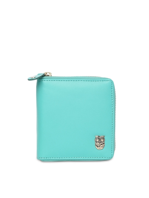 Chumbak Women Turquoise Blue Wallet