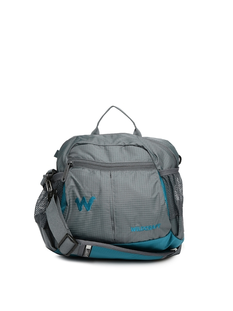 Wildcraft Men Grey & Blue Bum Travel Bag