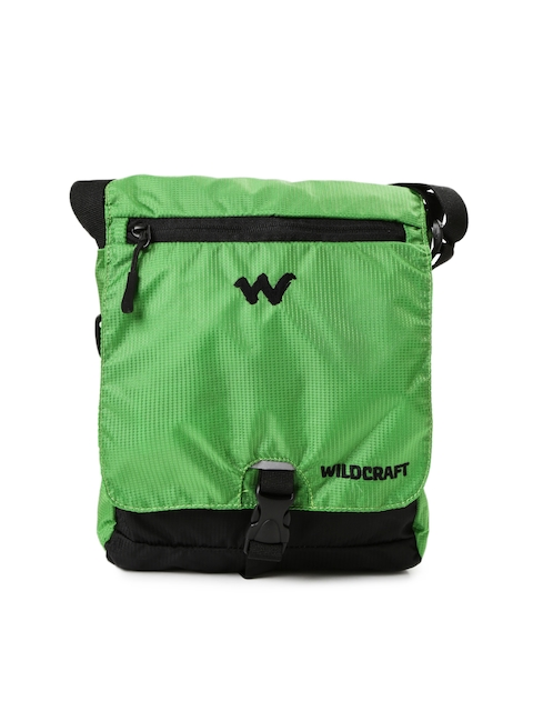 Wiki By Wildcraft Men Green Textured Messenger Bag