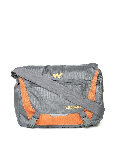 Wildcraft Men Grey & Orange Drut Messenger Bag