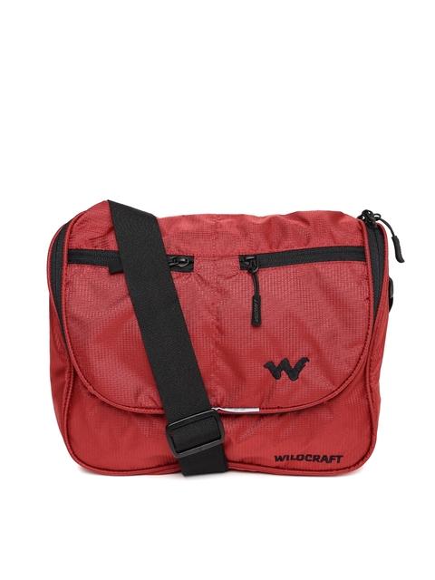 Wildcraft Men Red Pras Mini Messenger Bag