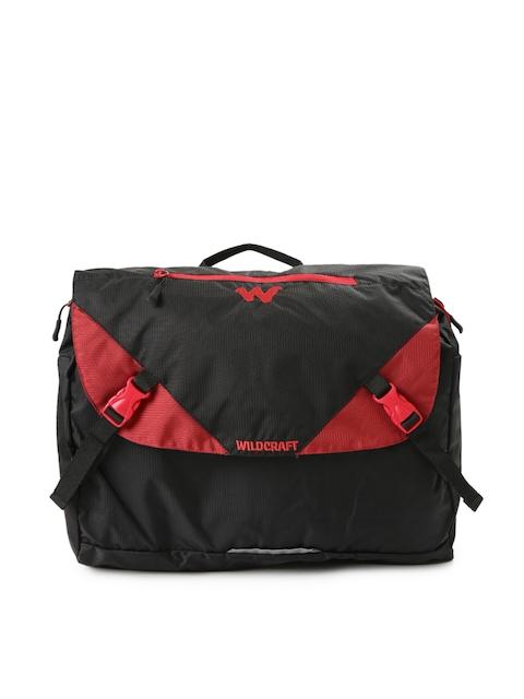 Wildcraft Men Black Textured Messenger Bag