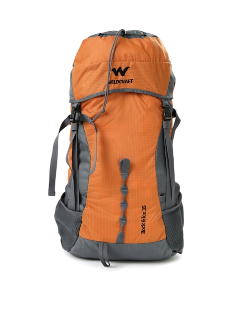 Wildcraft Men Orange & Grey Rock & Ice Rucksack  available at myntra for Rs.3399