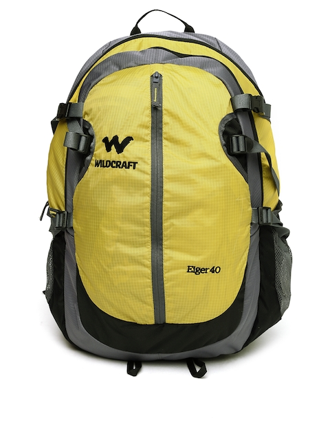 Wildcraft Men Yellow & Grey Eiger Rucksack