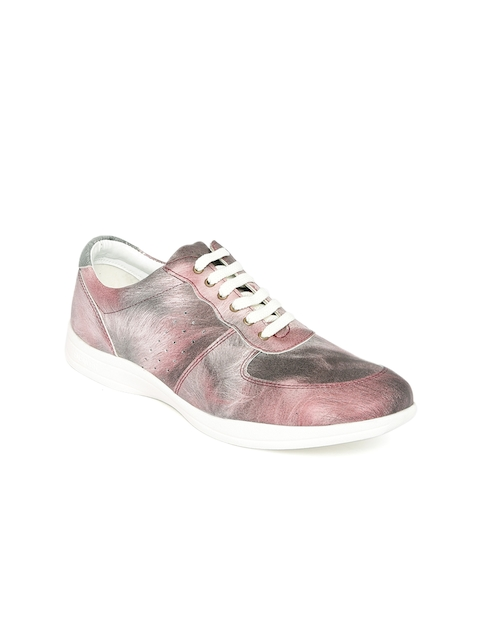 Knotty Derby Women PInk & Grey Sneakers  available at myntra for Rs.596