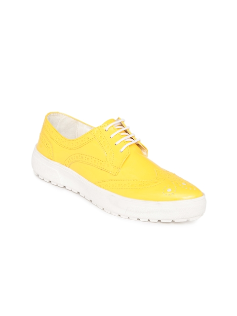 Knotty Derby Women Yellow Brogues