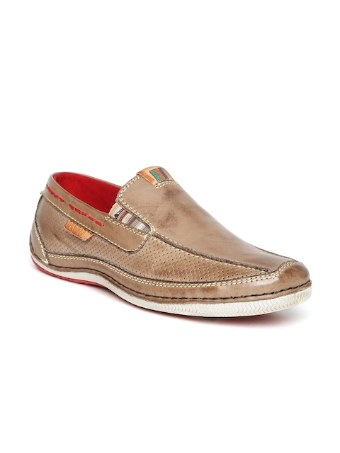 Buckaroo Men Brown Leather Slip-Ons