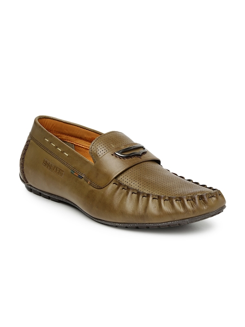 Buckaroo Men Brown Perforations Regular Loafers