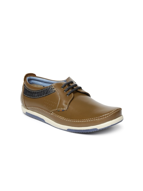Buckaroo Men Tan Brown Trenton Leather Sneakers