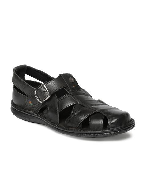 Buckaroo Men Black Blaze Leather Sandals