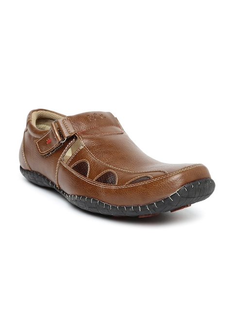 BCK by Buckaroo Men Brown Solid Regular Slip-On Sneakers  available at myntra for Rs.947