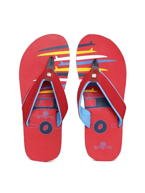 Woodland ProPlanet Men Red Printed Flip-Flops