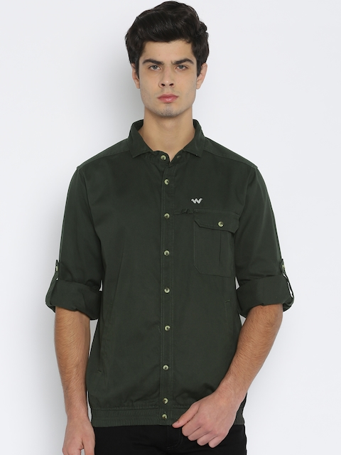 Wildcraft Olive Green Shirt-Style Jacket