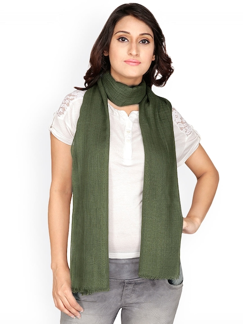 Anekaant Olive Green Stole