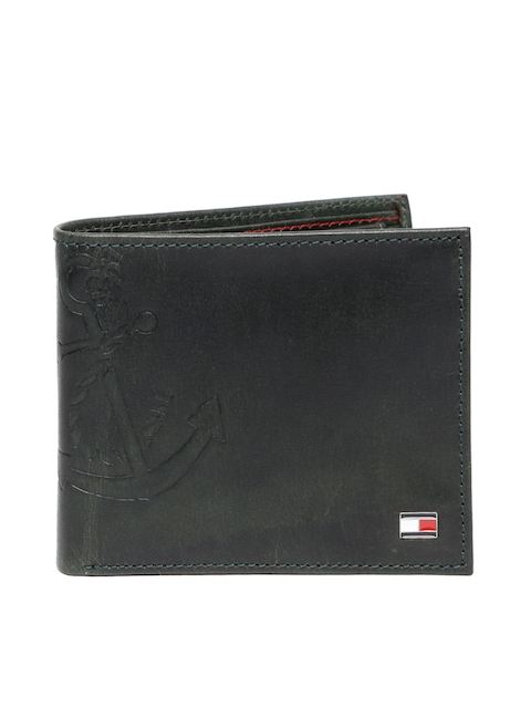 Tommy Hilfiger Men Green Two Fold Wallet