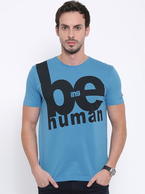 Being Human Men Blue Printed T-Shirt  available at myntra for Rs.449