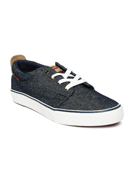 Levis Men Navy Blue Denim Sneakers