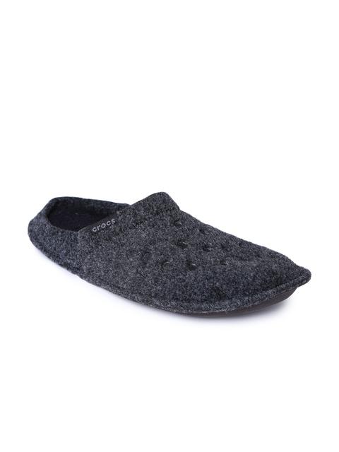 Crocs Unisex Black Classic Slippers