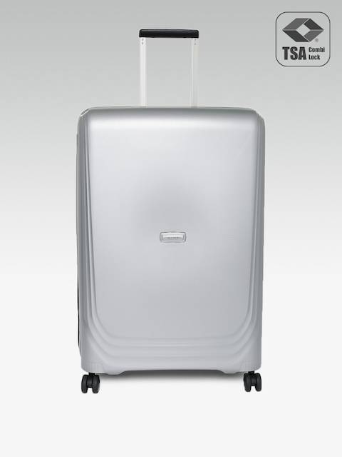 Samsonite Unisex Grey Optic Spinner 75 Large Trolley Suitcase