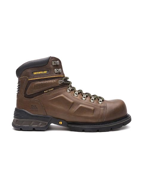 CAT Men Coffee Brown Endure Steel Toe Leather Boots