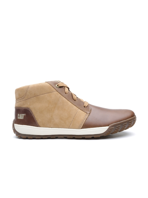 CAT Men Brown Pernell Leather Casual Shoes