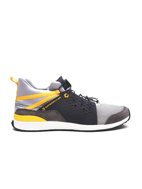 CAT Men Grey Unexpected Mid Leather Casual Shoes