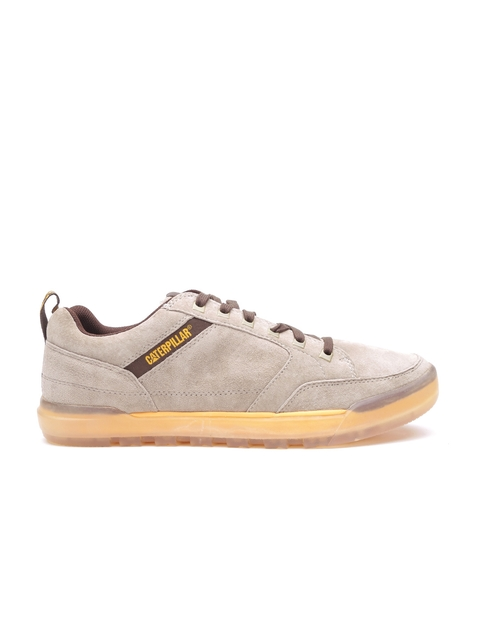 CAT Men Brown Pronounce Wolverine Leather Sneakers
