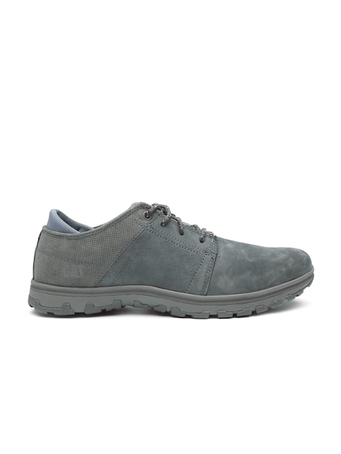 CAT Men Grey Science Leather Casual Shoes