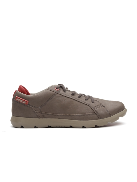 CAT Men Brown Maddox Leather Sneakers